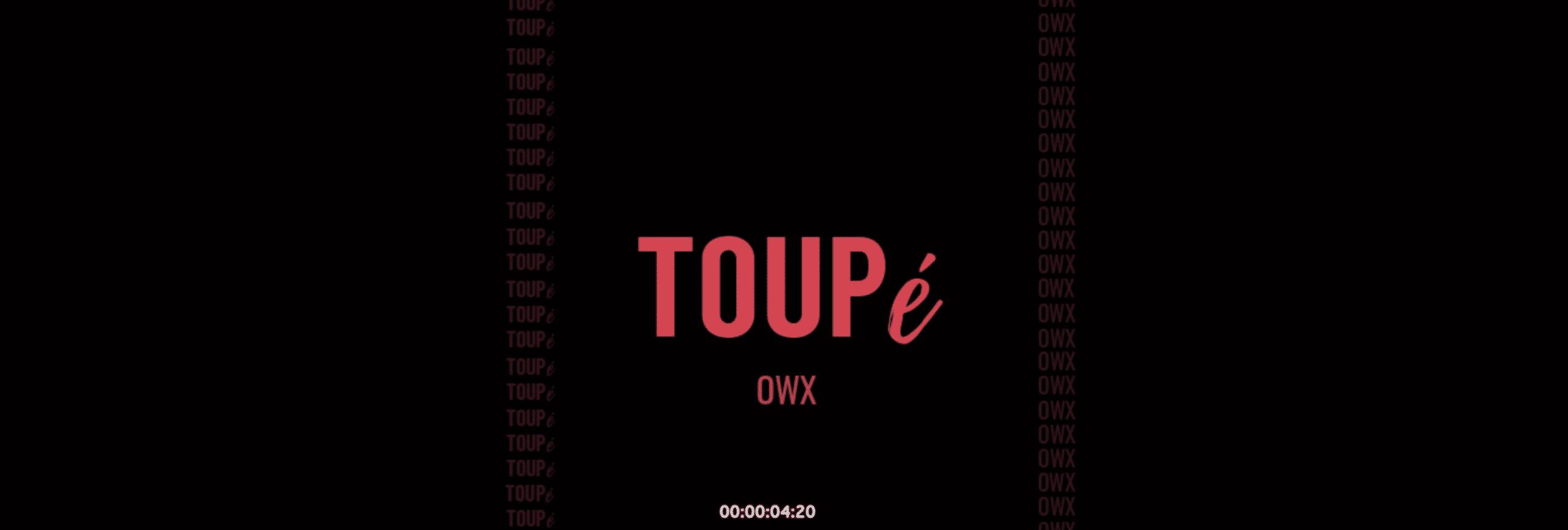 """Owx est un jeune artiste et il a du """"Toupé"""""""