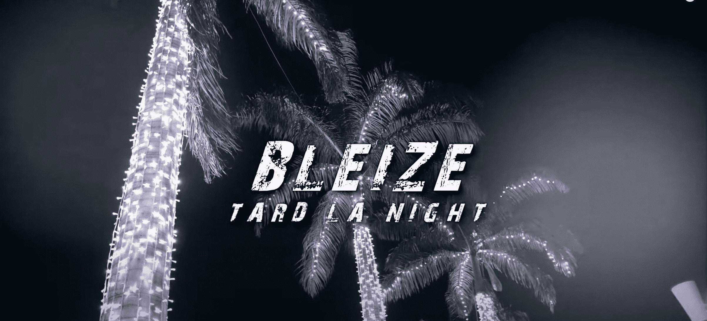 """Bleize est de retour avec son nouveau single """"Tard la Night"""""""