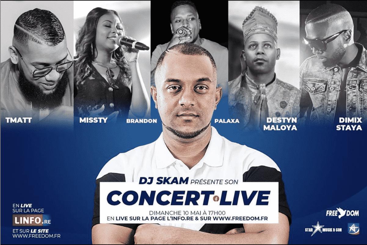 Dj Skam organise un concert live de déconfinement avec T Matt, Dimix Staya, Missty, etc