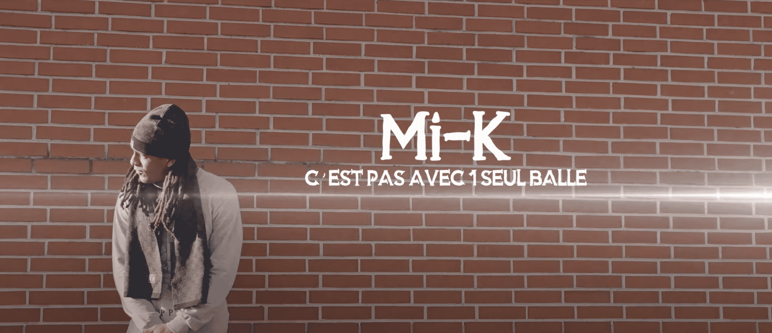"""Mi-K dévoile officiellement """"C'est pas avec 1 seul balle"""""""